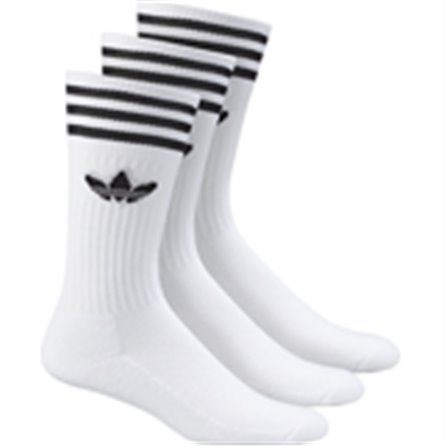 ADIDAS - SOLID CREW SOCK White