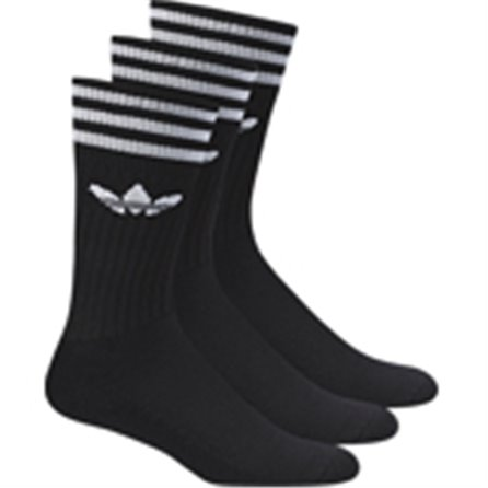 ADIDAS - SOLID CREW SOCK Black