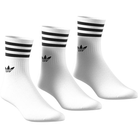 ADIDAS - MID CUT CREW SOCK White