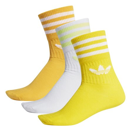 ADIDAS - MID CUT CREW SOCK Active Gold