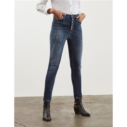 DONDUP - Jeans HIGHWAY BOTTONIERA Blue