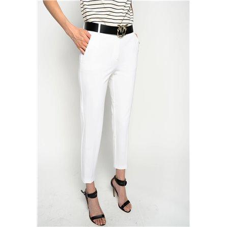 PINKO - Pantalone BELLO 100 Bianco
