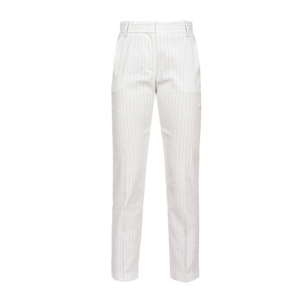 PINKO - Pantalone BELLO 102 Bianco/Nero
