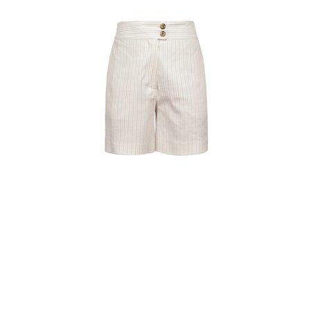 PINKO - Shorts LOQUACE Bianco/Nero