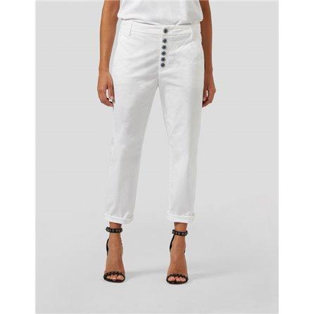 DONDUP - Pantalone NIMA Bianco