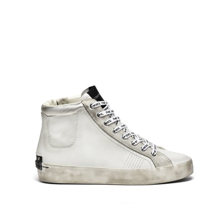 CRIME - Sneakers HIGH TOP HERITAGE Bianco