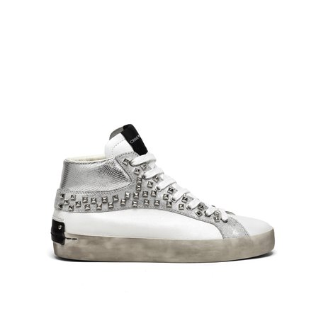 CRIME - Sneakers HIGH TOP HERITAGE Silver/White