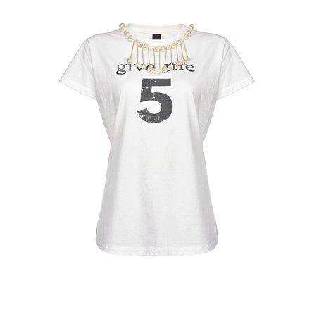 PINKO - T-Shirt ESTROVERSO Bianco
