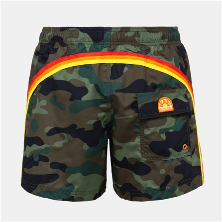 SUNDEK - COSTUME SHORT 14 VINTAGE DEEP Camouflage Army