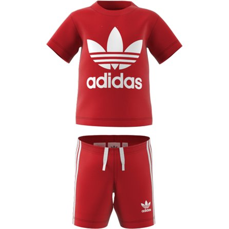 COMPLETO TREFOIL SHORTS TEE Red
