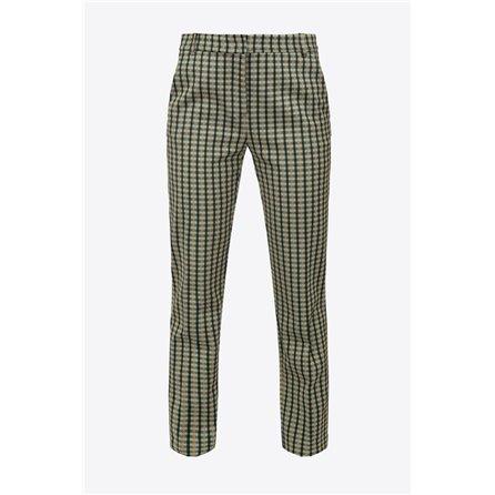 PINKO - Pantalone BELLO 109 Multicolor Verde/Beige
