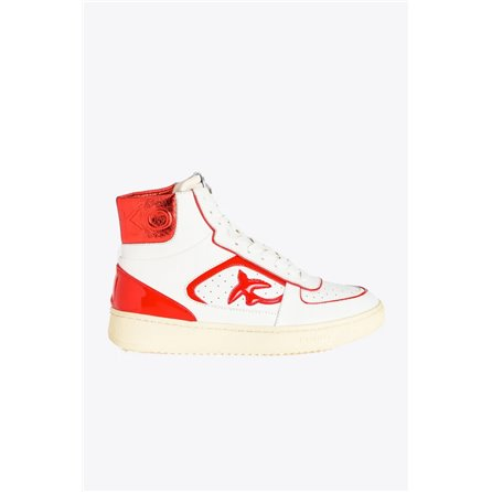 PINKO - Sneakers HARLOW Bianco/Rosso